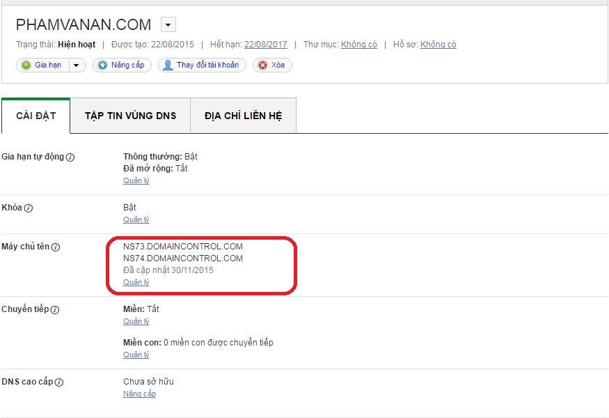 huong dan tro domain ve hosting 1