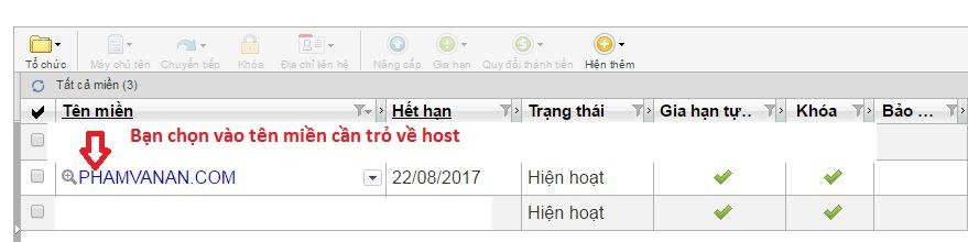 huong dan tro domain ve hosting